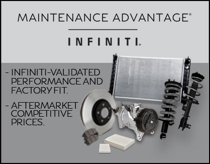Maintenance Advantage INFINITI Banner